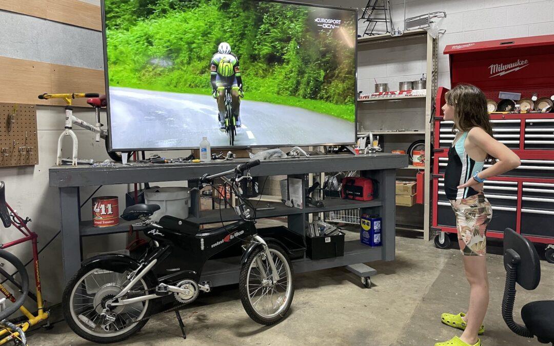 bike racing on the big screen!